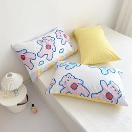 小熊软糖!原创设计可爱日系卡通全棉枕套单人74*48 可定制AB版