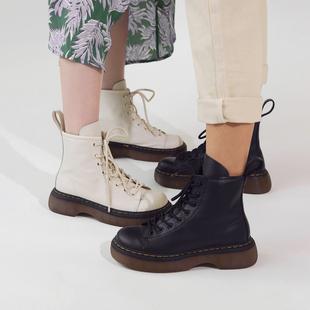 玛速主义2020新款厚底马丁靴女秋英伦风单靴ins潮小个子短靴靴子