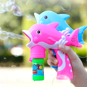 Fully automatic bubble blowing machine Douyin Net Red Children's toys boys and girls electric bubble water gun little fairy heart