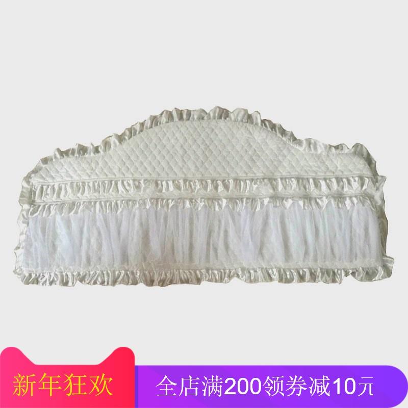 。床头罩定做欧式弧形席梦思老式床头套公主风圆床保护套床头靠背