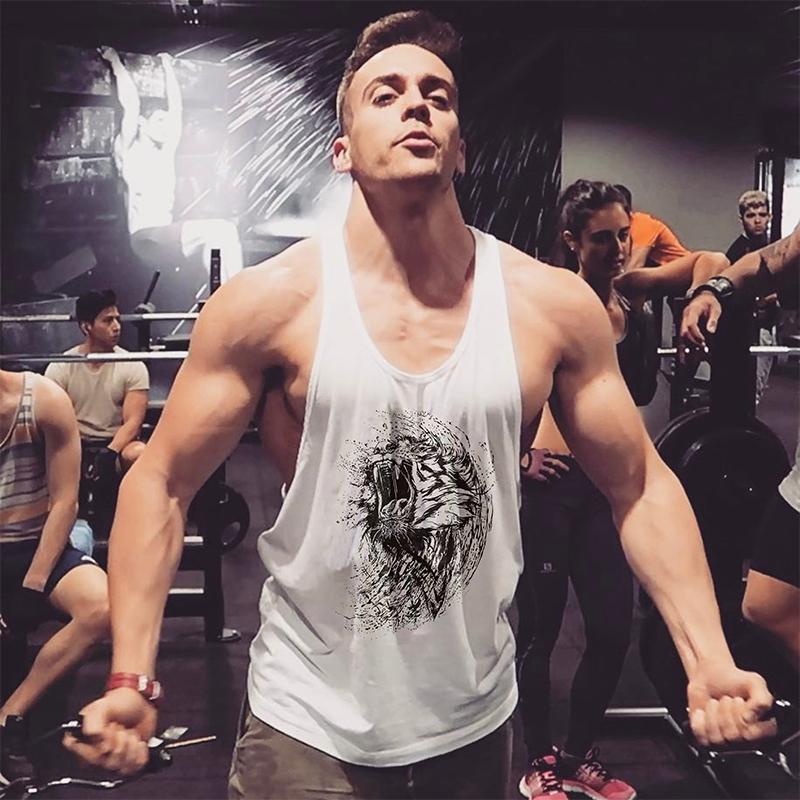 健身背心男宽松训练肌肉工字吊带棉运动跨栏肌肉型健美细带潮流款