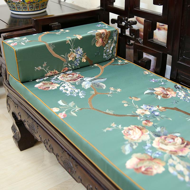 中式古典红木沙发垫罗汉床坐垫子五件套实木家