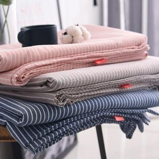 可定做日式良品水洗棉单件床单素色纯棉儿童学生宿舍单双人床笠套