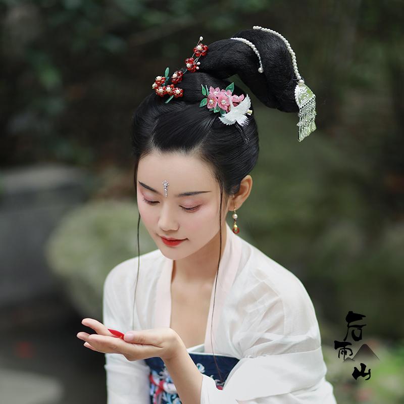 【后雨山】汉服灵蛇髻古风古装简单快手造型假发包仕女发髻图片