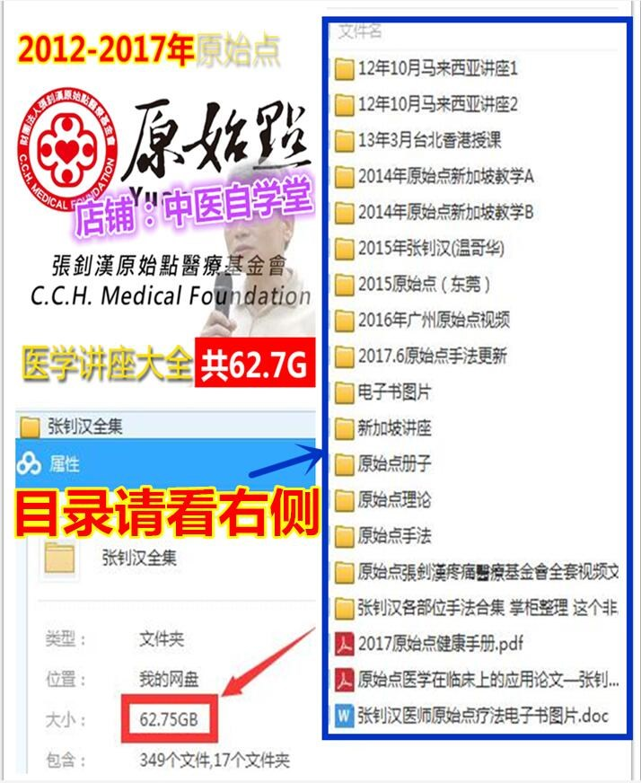 2012-2017年张钊汉原始点疗法讲座视频教程中医推拿按摩