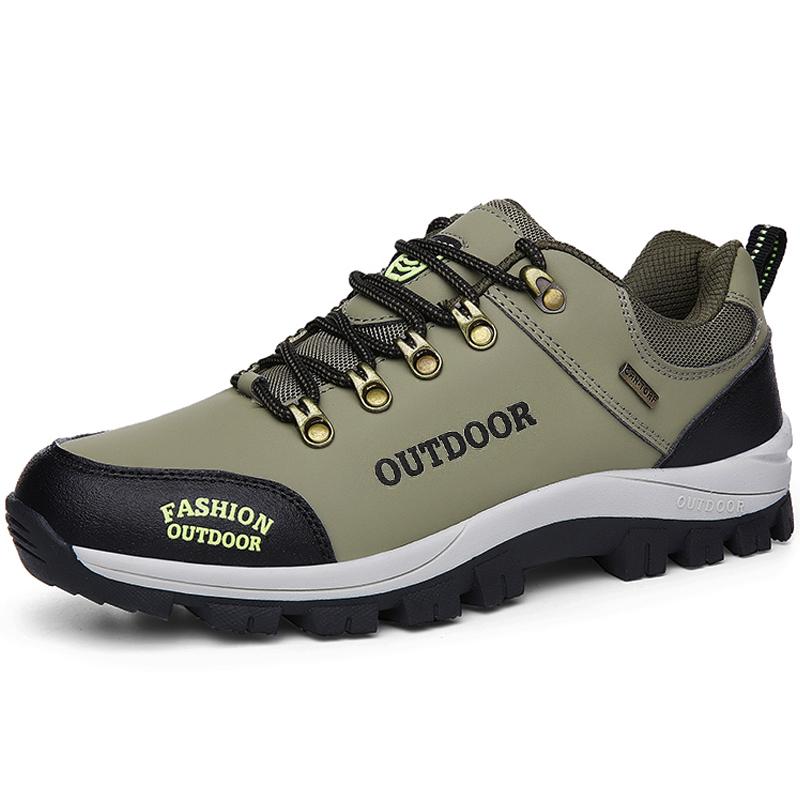 秋冬季运动鞋男户外防滑跑步登山鞋