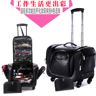 Professional make-up trolley case 16-inch caster with a large-capacity nail embroidery tool box makeup