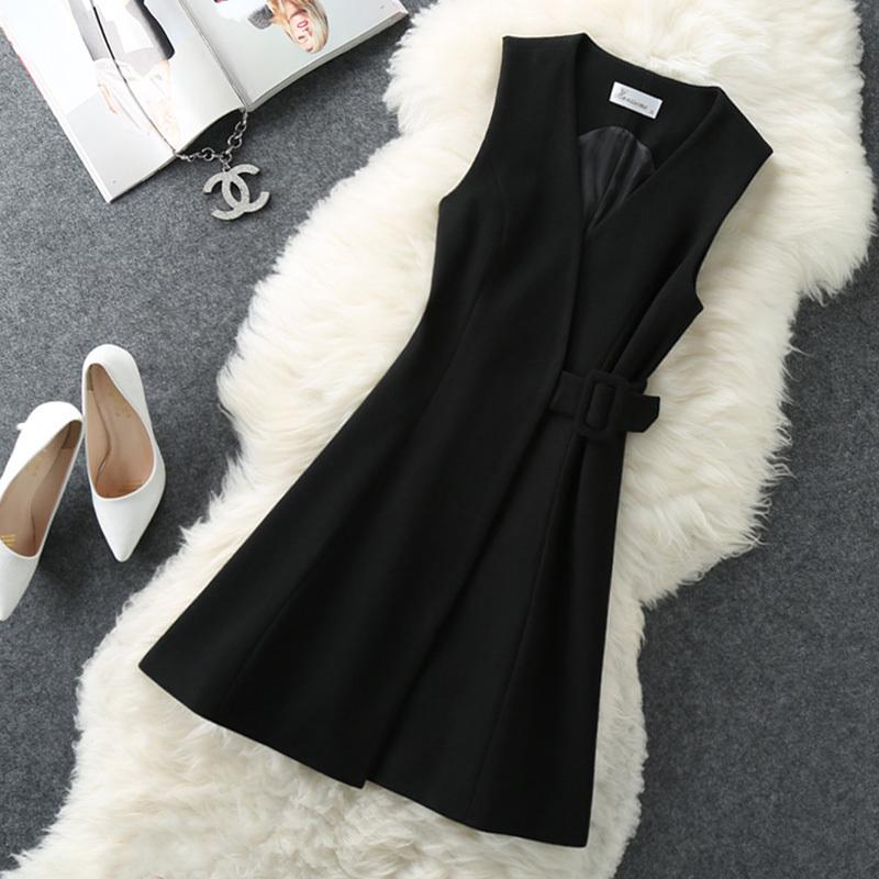 版中长款冬裙连衣裙加厚马甲裙