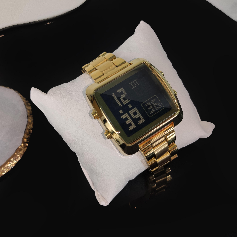 sukeew小金表潮流时尚高级感金色手表简约霸气腕表