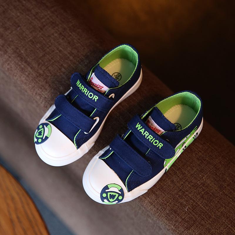 回力童鞋儿童帆布鞋魔术贴男童小汽车球鞋低帮学生鞋女童宝宝布鞋