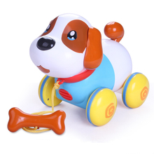 Toy dog can walk and sing, music can be pulled, dog is 1-2-year-old boy girl baby, children's toy 61 gift