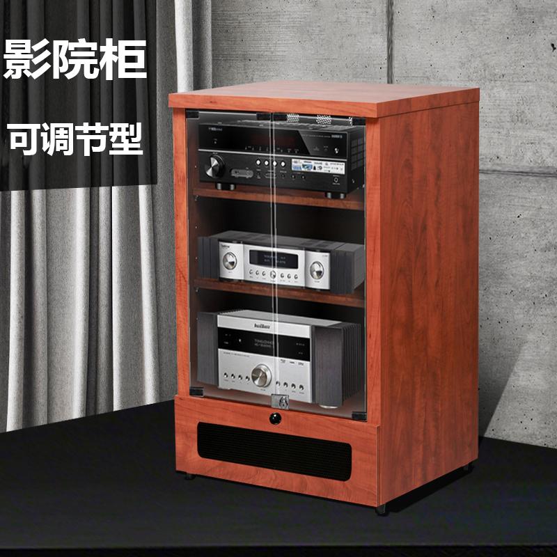 捷盛功放机柜木质功放机架KTV影音架子音响影院机箱设备器材柜子