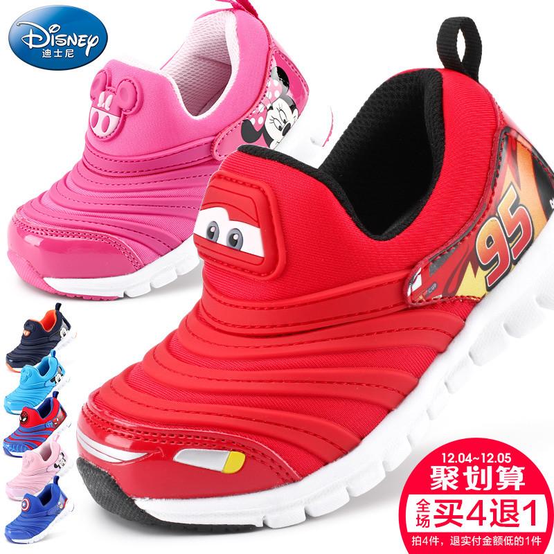 宝宝鞋子软底学步单鞋迪士尼秋新男童女童鞋幼儿童小孩休闲运动鞋