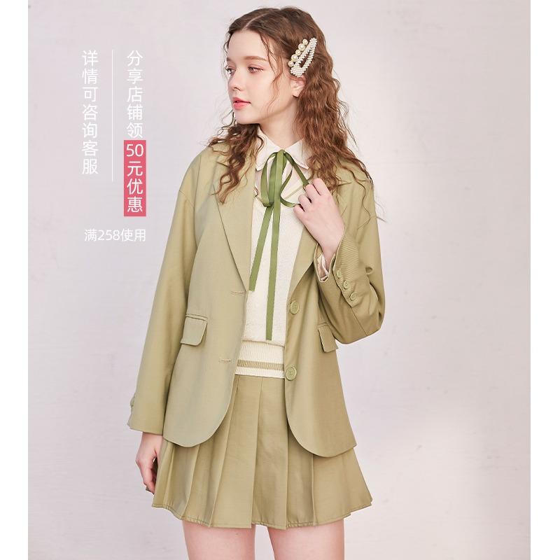 【现货】linjou玲玖西装外套女韩版宽松英伦风网红小西服2020春秋