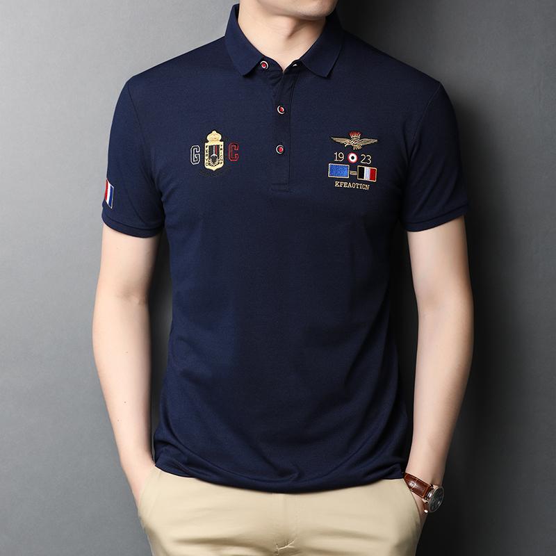 男装新款半袖翻领POLO衫夏装青年韩版短袖T恤纯色男士体恤