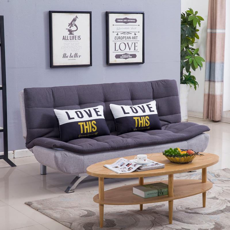 小户型简约沙发床可折叠两用简易单人双三人位乳胶布艺沙发可拆洗