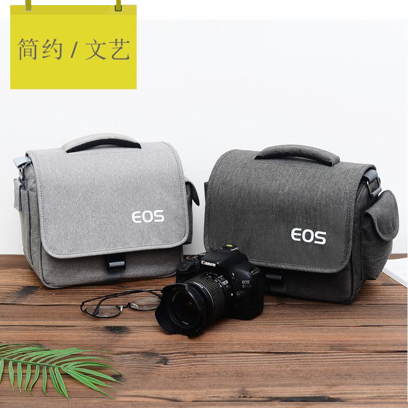佳能相机包 单反单肩便携微单文艺男女摄影70D80D200D800D M6M100