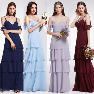 Ever-Pretty elegant strap V-neck bridesmaid dress long section 2018 dress high waist large size was thin beach skirt sum