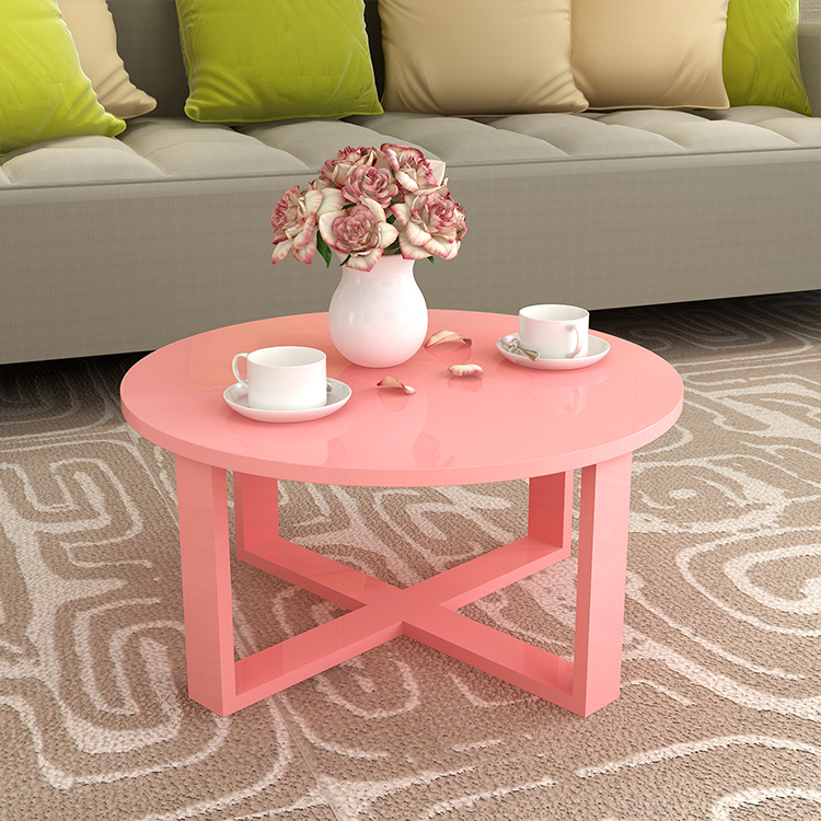 Beauty table Simple modern round creative living room bedroom ...