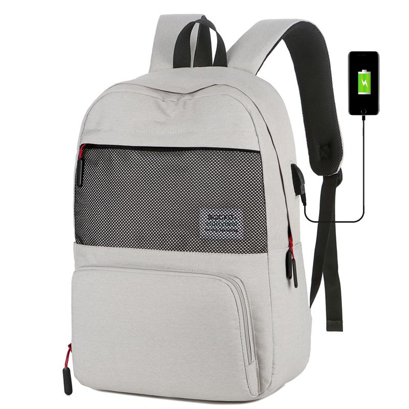 电脑包双肩15.6寸适用于联想华硕男女手提学生背包轻便大容量简约