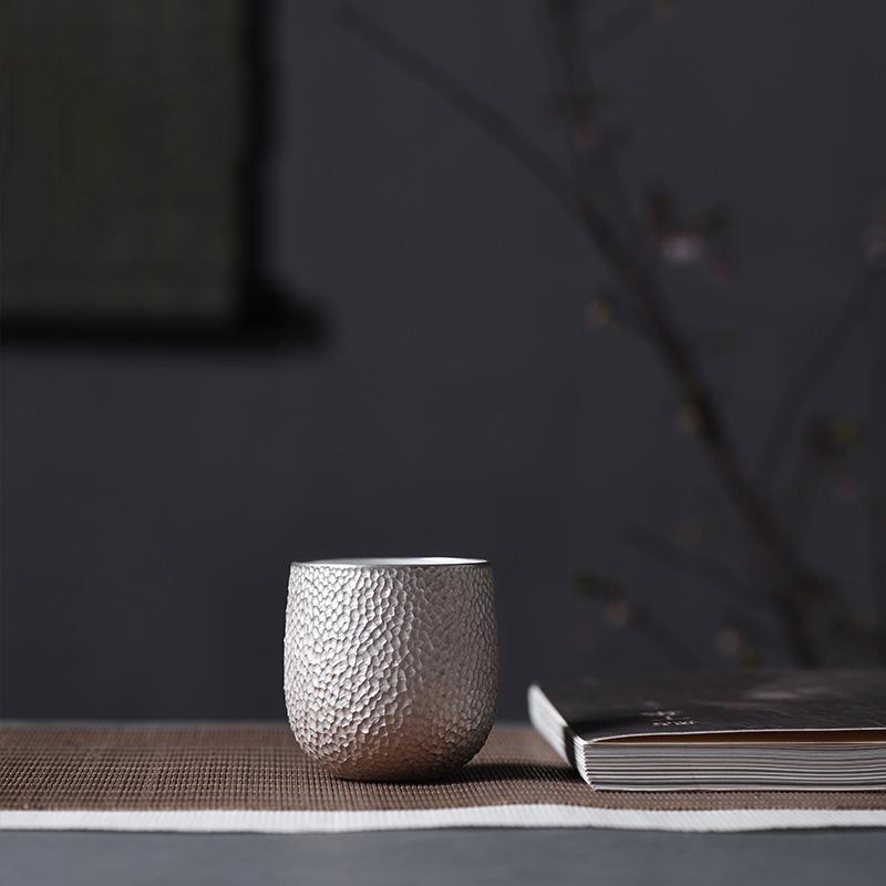 景君 景德镇陶瓷器  全手工银杯 品茗杯功夫茶具茶杯