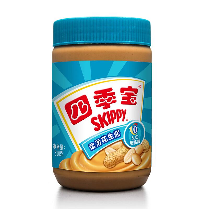 四季宝柔滑花生酱510g 面包酱拌面酱火锅调料蘸料
