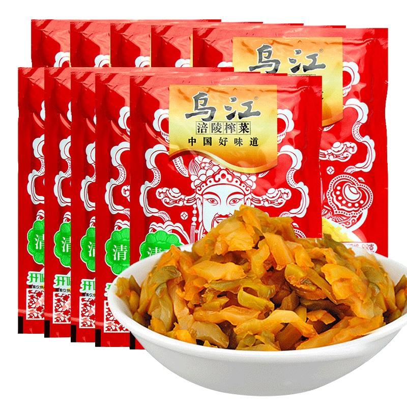 乌江涪陵榨菜鲜脆菜丝80g*10袋 下饭菜  特产小吃
