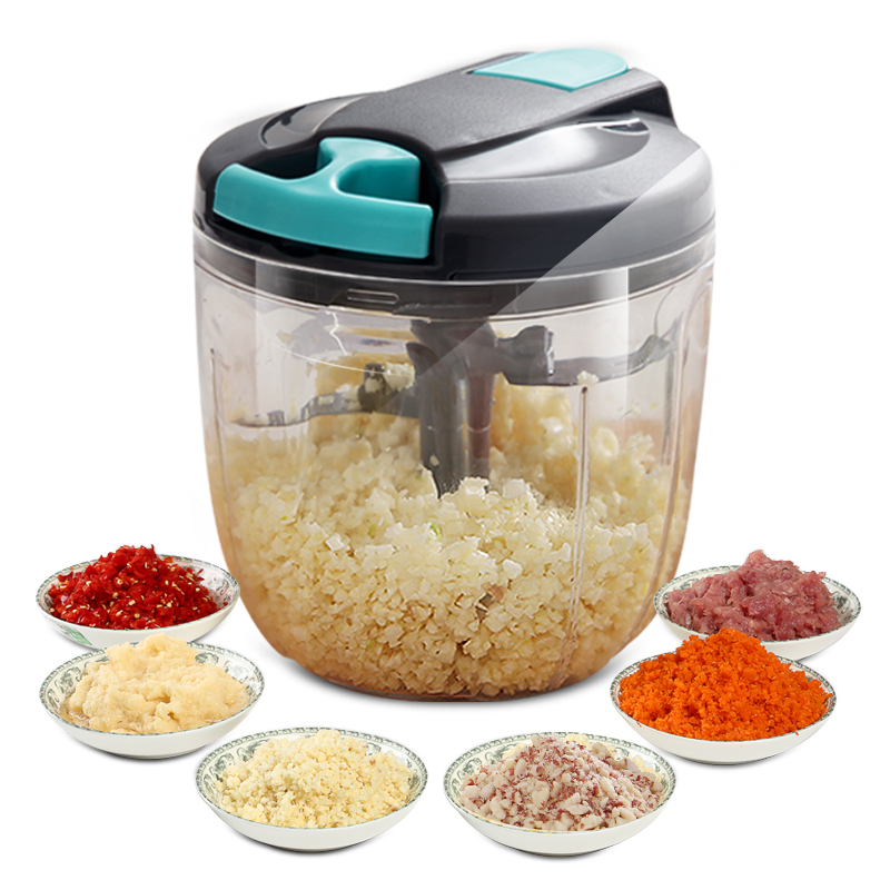 绞肉机家用手动搅拌机饺子馅碎菜机家用手拉式切辣椒小型绞菜神器