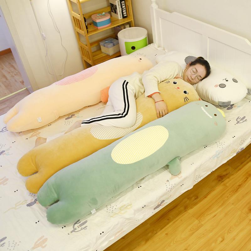 恐龙长条枕玩偶公仔娃娃床上陪你睡长条抱枕睡觉长型枕头毛绒玩具