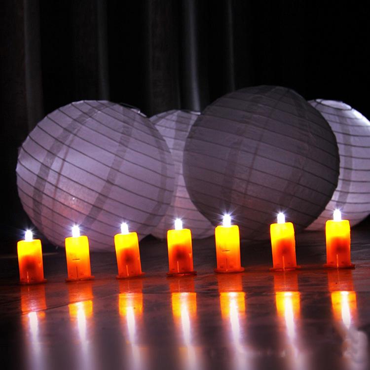幼儿园儿童diy纸手工灯笼制作发光材料led电子小灯珠亮灯泡灯笼灯
