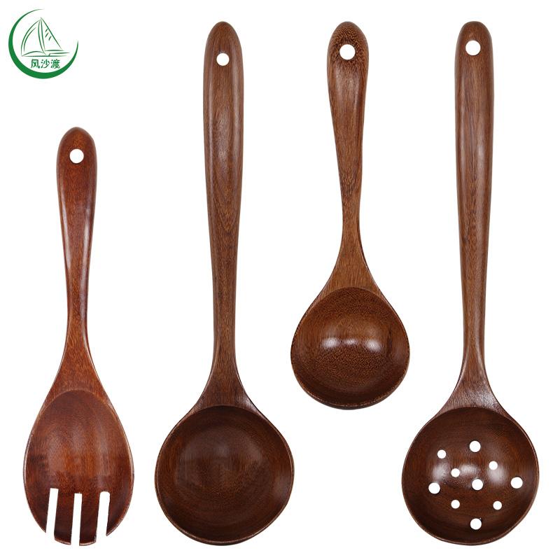 木头勺子漏勺日式木勺子长柄木质汤勺粥勺稀饭勺韩国家用韩式大号