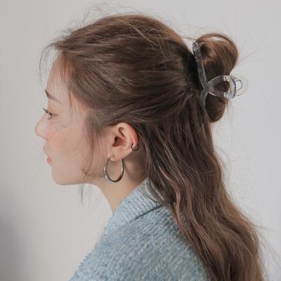 粉红mini韩国代购stylenanda2月韩版透明抓夹发夹发卡发饰