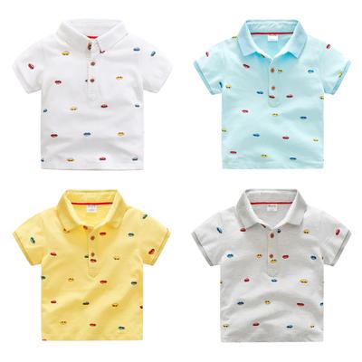 韩版小汽车儿童短袖T恤纯棉宝宝POLO衫薄款夏装新款童装男童上衣 拍下29元包邮