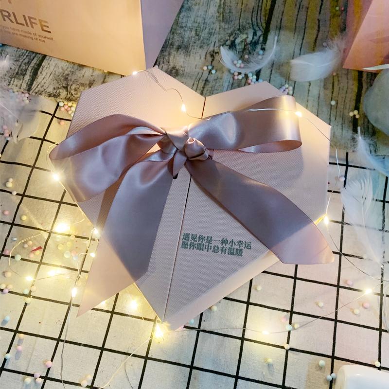 礼物盒子ins风 藏礼物惊喜流星球礼品盒闺蜜伴娘伴手生日礼盒空盒