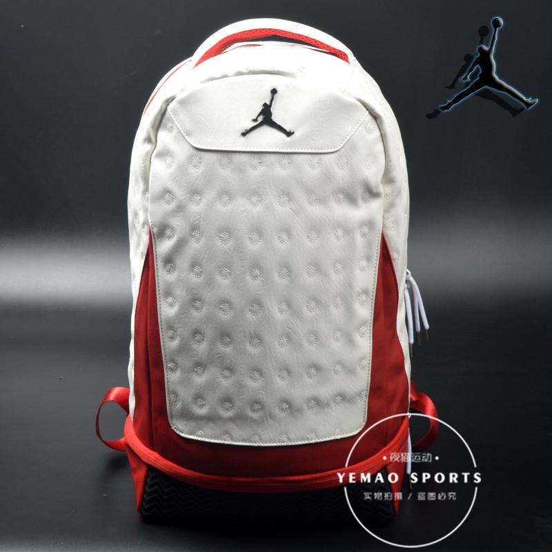皮防水air jordan双肩包学生气垫AJ书包乔丹旅行电脑飞人篮球背包