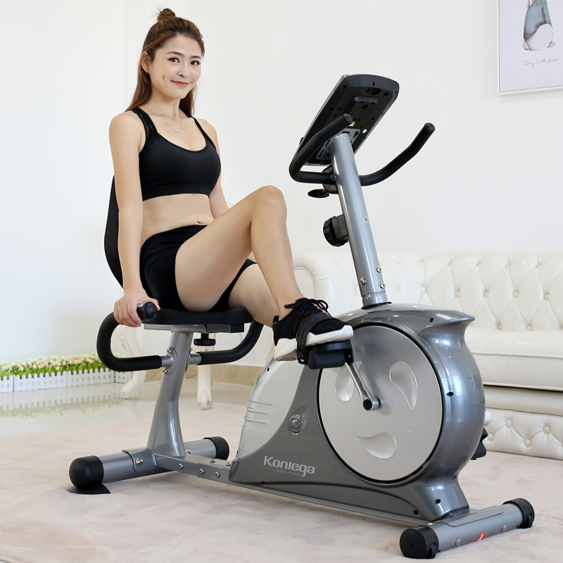 Recreational jia horizontal fitness car magnetically controlled bicycle exercise weight loss fitness equipment bike family dynamic bicycle