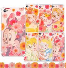 迪士尼贝儿米妮yu4花仙公主ng P9 P10plus手机壳G8透明超软套