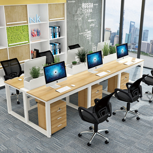 Zimulin staff desk modern minimalist screen 2/4/6 four-person staff table and chair combination office furniture