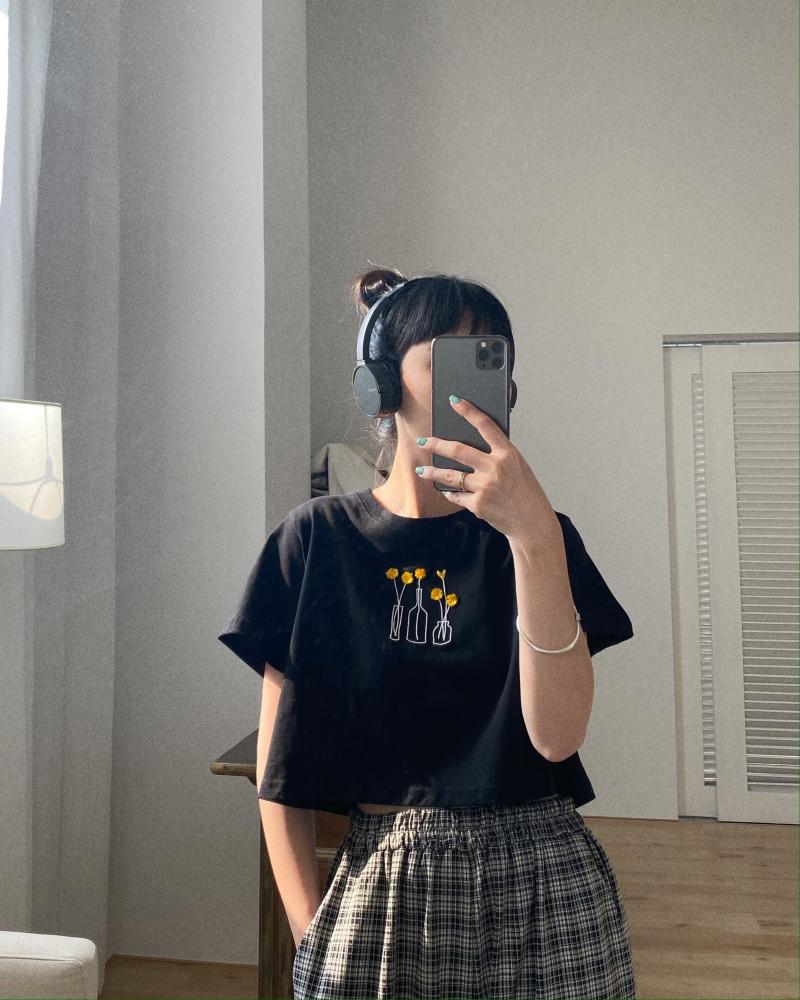 卤卤lulu 宽松t恤女2020年新款短款短袖港风韩版体恤露脐上衣夏季