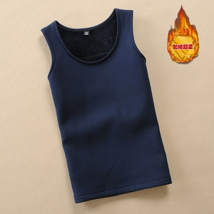 Children's vest plus velvet to keep warm, large boys to keep warm in autumn and winter, bottoming boy's shoulders, child vest, cotton inner wear