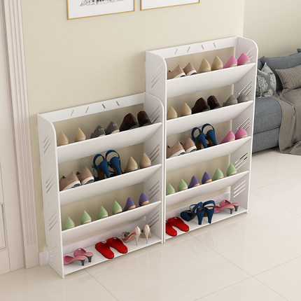简易鞋架家用多层鞋柜客厅简约欧式雕花防尘经济型宿舍组装置物架