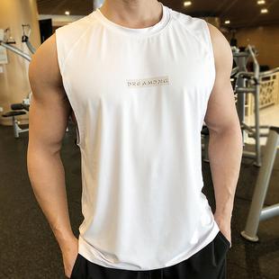 锻炼无袖健身背心宽松速干坎肩工字t恤训练服男篮球跑步运动上衣图片
