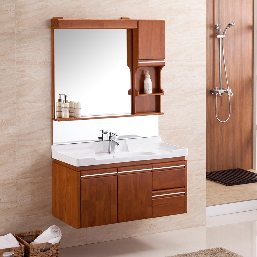 克丽菲儿橡木浴室柜 卫浴柜洗面洗脸盆洗手台盆洗漱台组合KL-2872