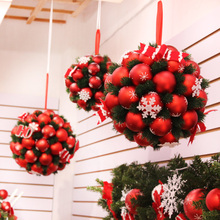 Christmas Christmas Ball Flower Ball Decoration Charm Supplies Living Room Shop Shopping Mall Ceiling Decoration Ornament Props