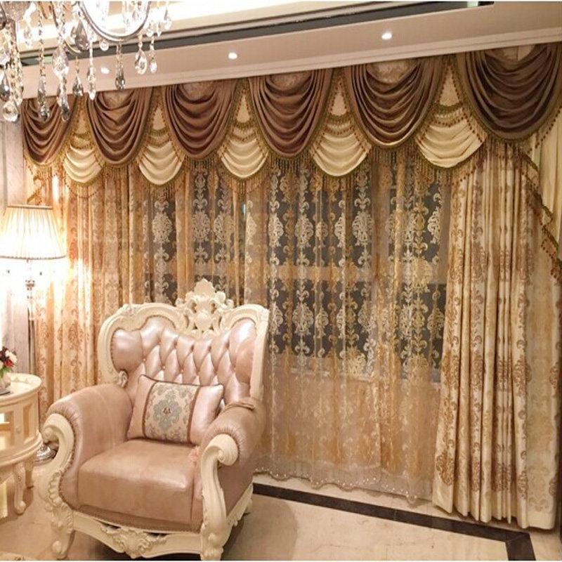 豪华欧式窗帘卧室窗帘布 客厅落地窗窗帘成品飘窗窗帘 玛丽安