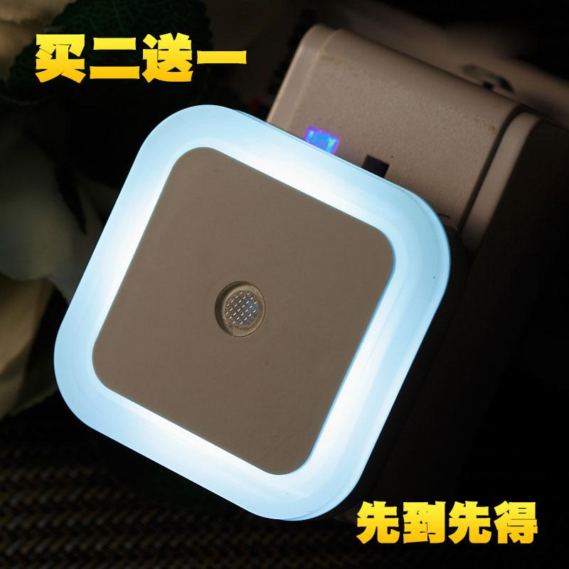小夜灯插电led光控感应创意婴儿喂奶起夜光卧室床头灯