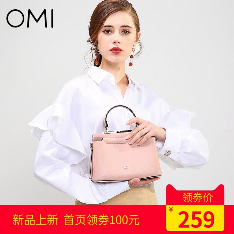 欧米OMI包包女2018新款凯莉包女纯色手提[天猫商城]