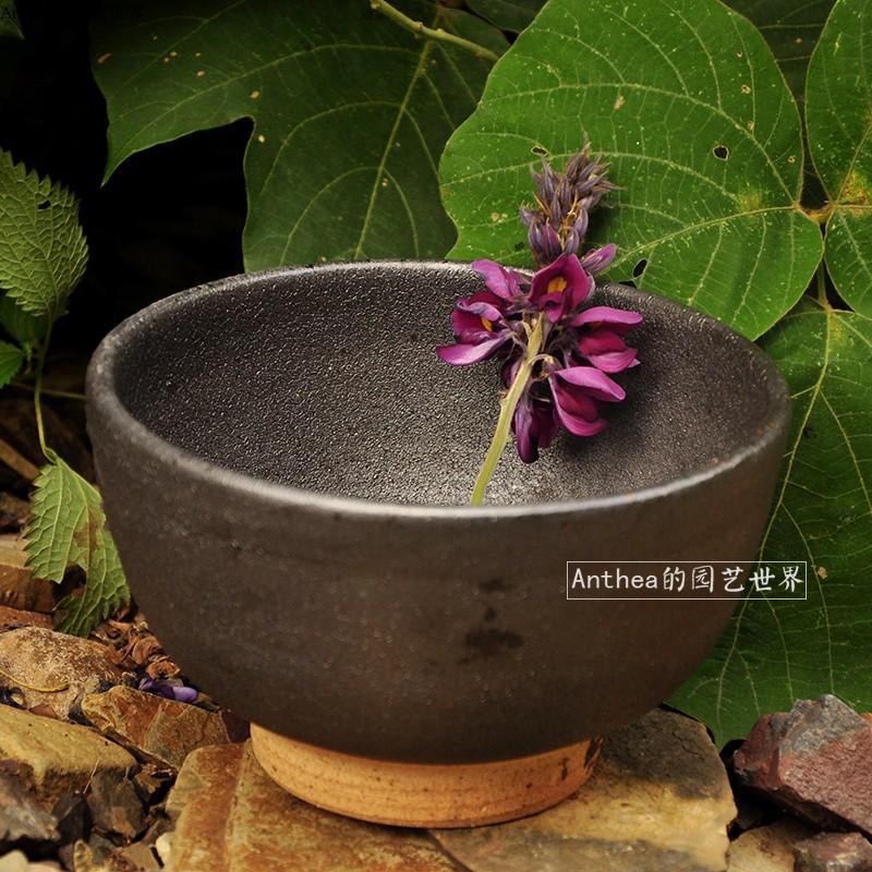 黑陶碗手工碗粗陶碗农家碗老式碗拉面碗米粉碗美食拍摄碗民宿陶碗-Anthea的园艺世界-12月