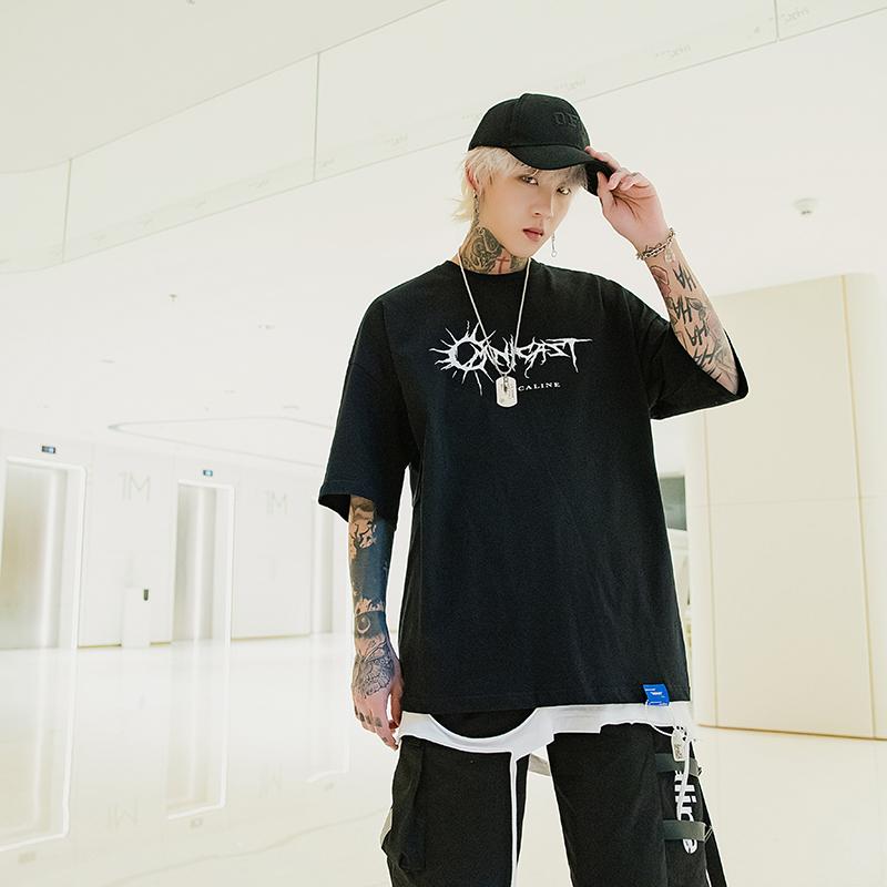 X17男装短袖T恤2020新款潮牌系列休闲宽松X17
