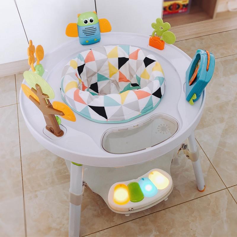 婴儿跳跳椅哄娃神器多功能游戏桌宝宝弹蹦跳椅健身架玩具3-18个月
